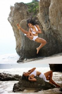 Victoria Vives Flying Kick