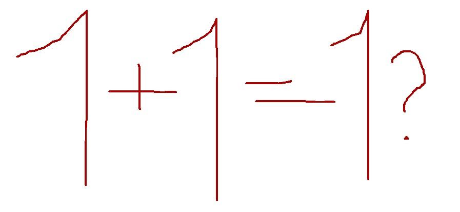 YOU + I = 1?