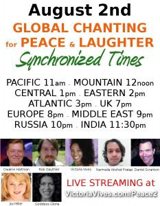 Global chanting for peace and laughter