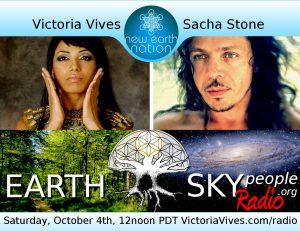 Sacha Stone and Victoria Vives on earth sky radio