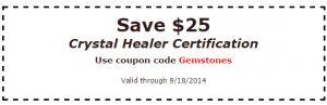 crystal healer coupon
