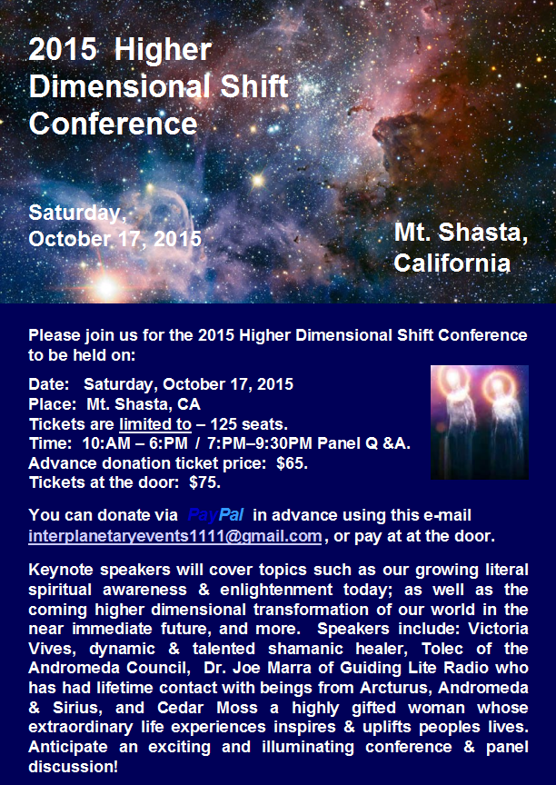 Mt Shasta Conference