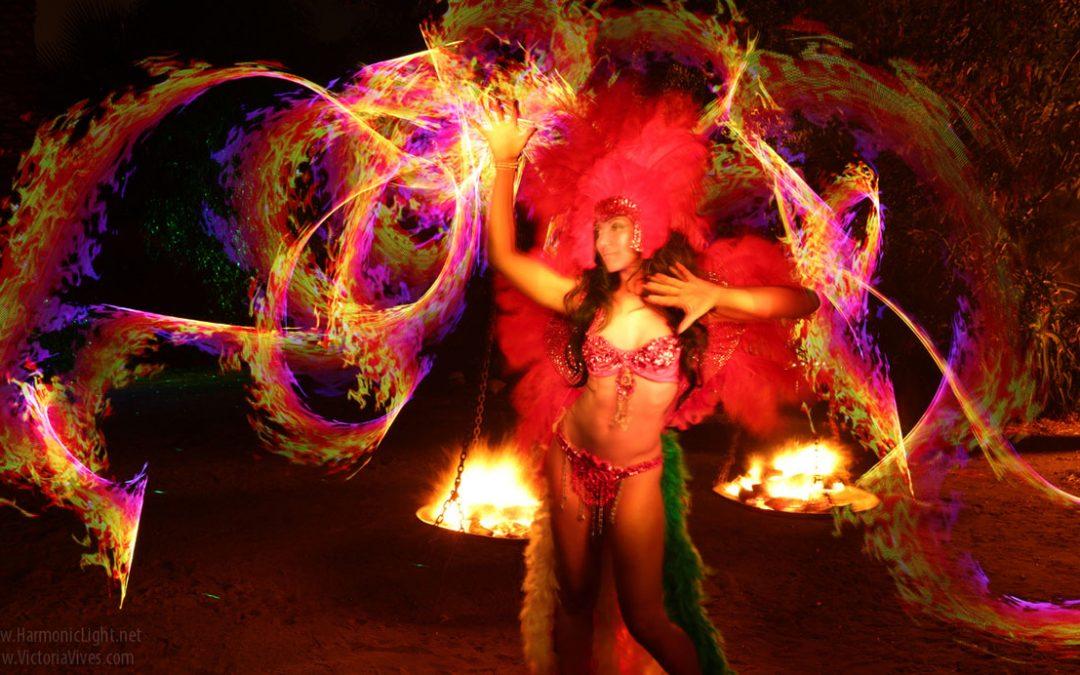 Fiery Treble Clef In Rainbow Flames: Victoria Vives