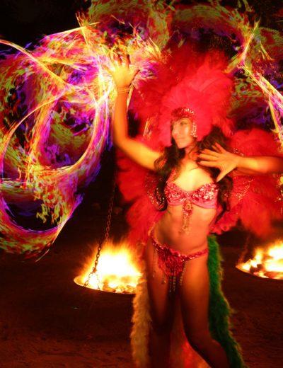 Rainbow Fire Flow Arts Photoshoot
