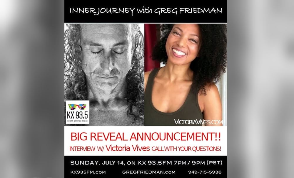 Victoria Vives National Radio interview at Inner Journey with Greg Friedman