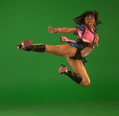 Victoria Vives Martial Arts - Warrior Side Kick Heels