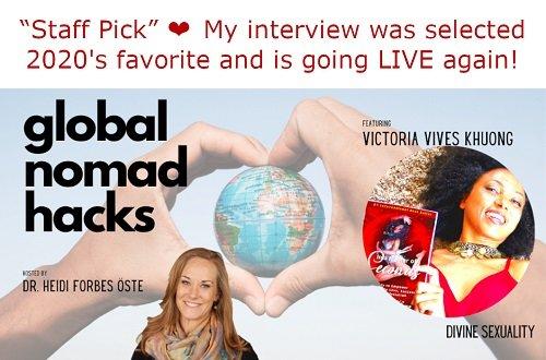 Victoria Vives' Interview Chosen Favorite of 2020's at Global Nomad Hacks